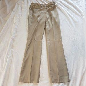 G2000 Womens Dress Pants Beige Pinstripe Slacks